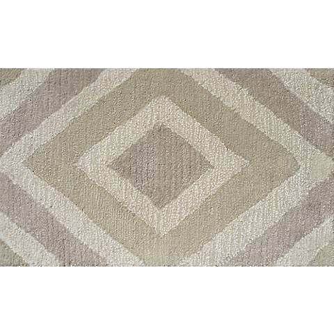 Zuel Ivory and Taupe Diamond Doormat