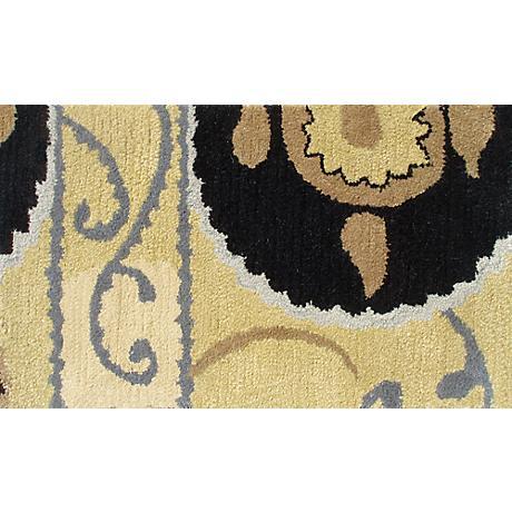 Suzani Tile Black Doormat