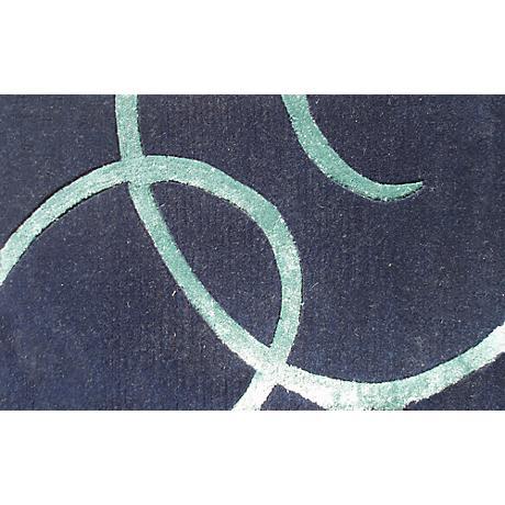 Barneys Navy Blue and Teal Doormat