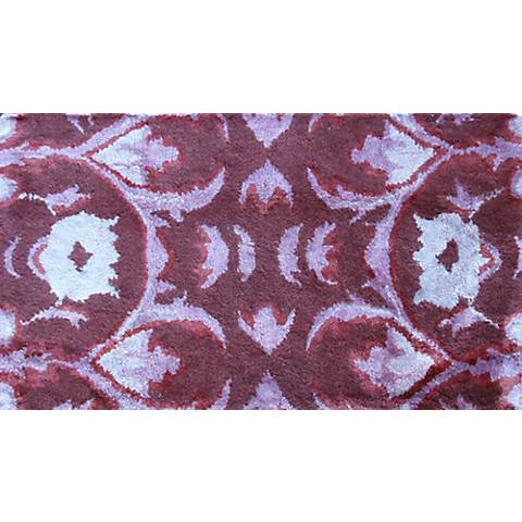 Mallorca Burgundy and Lavender Doormat