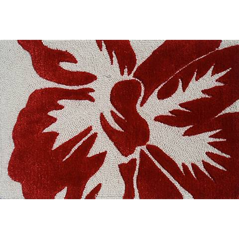 Sebastian Red and Ivory Doormat