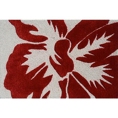 Sebastian Red and Ivory Doormat