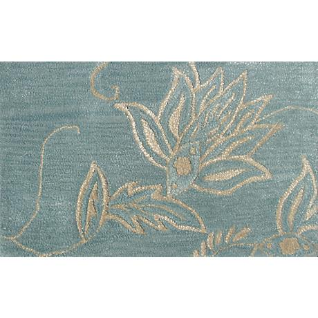 Henna Blue and Ivory Doormat