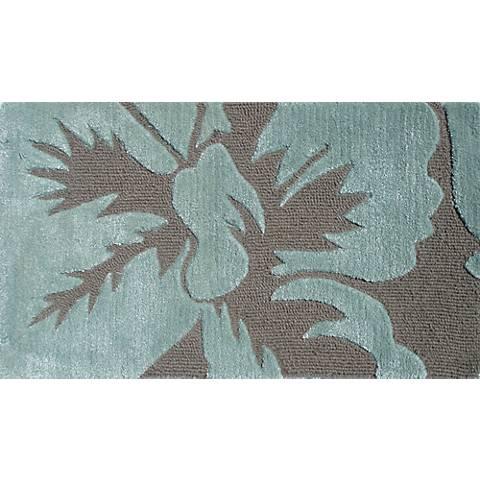 Sebastian Teal and Taupe Doormat