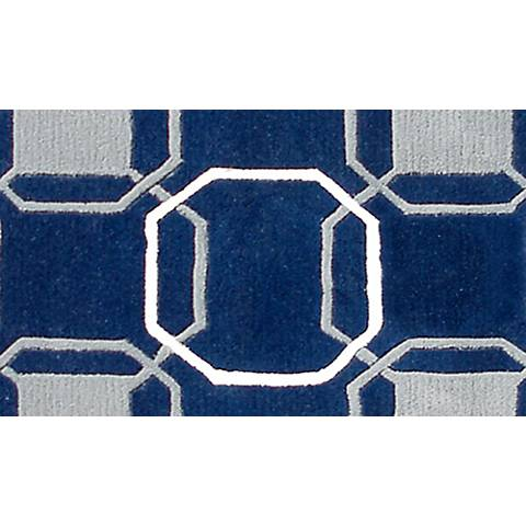 Westover Navy and Gray Doormat