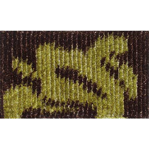 Brogue Brown and Green Doormat