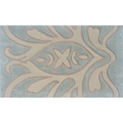 Kingswell Cream and Teal Doormat