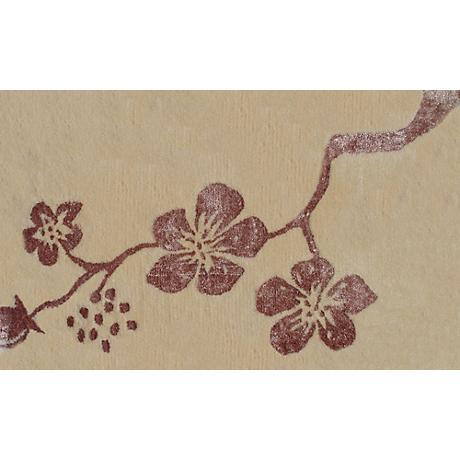 Fantasy Cream and Purple Doormat