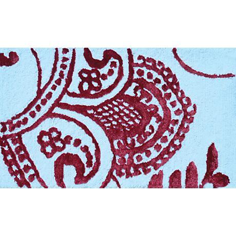 Sebastian White and Red Doormat
