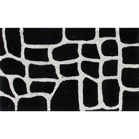 Croc Black Doormat