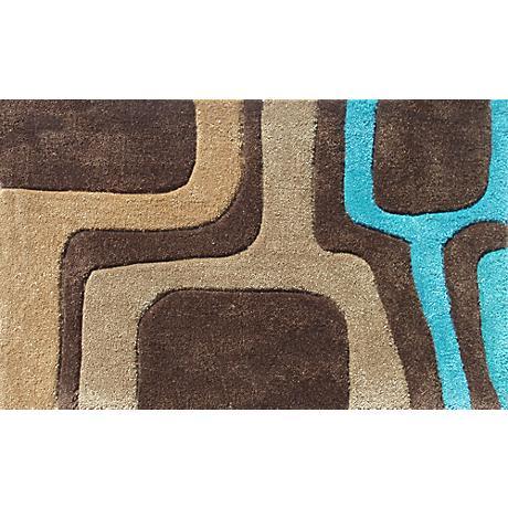 Puck Brown and Blue Doormat