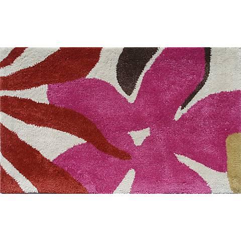 Mustard Seed Red Floral Doormat