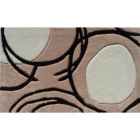 Lysander Tan and White Circle Doormat
