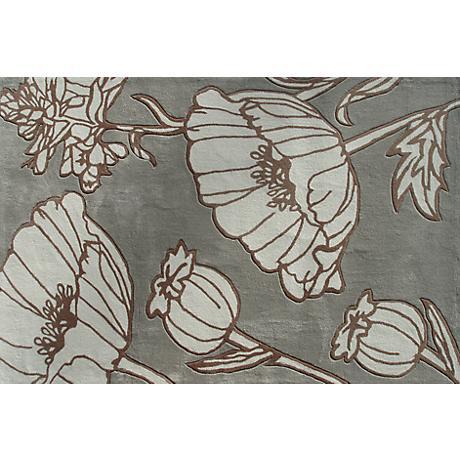 Helen Slate Blue Floral Doormat
