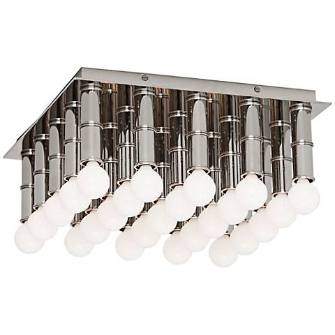 "Jonathan Adler Meurice 13"" Wide Nickel Ceiling Light"