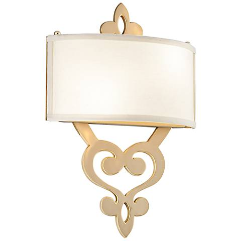 "Corbett Olivia 18"" High Satin and Brass Wall Sconce"