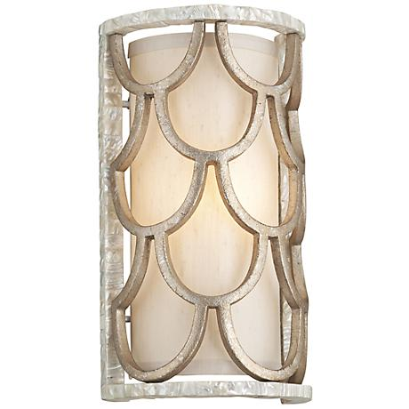 "Corbett Koi 13 3/4"" High Mother of Pearl Wall Sconce"