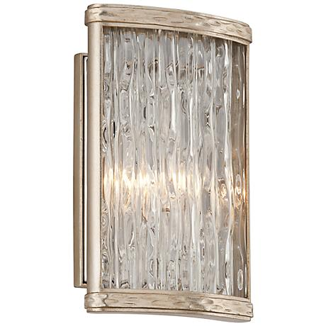 "Corbett Pipe Dream 10 3/4"" High Silver Leaf Wall Sconce"