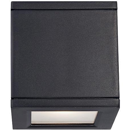 "WAC Rubix 5"" High Black LED Up - Downlight"