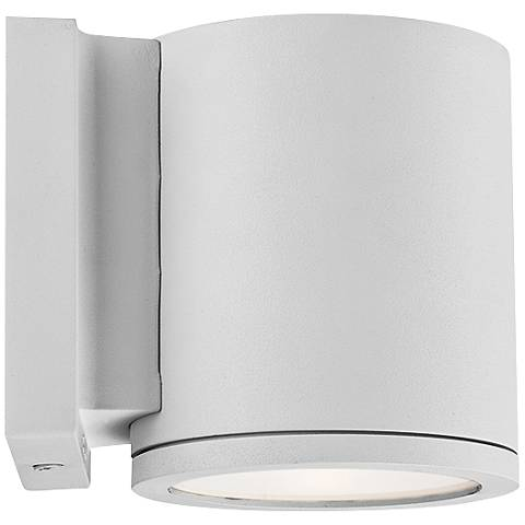 "WAC Tube 6"" High White LED Outdoor Wall Light"