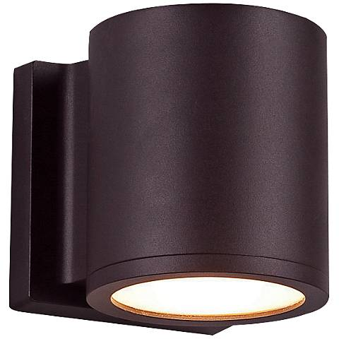 "WAC Tube 6"" High Bronze LED Outdoor Wall Light"