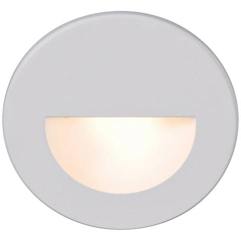 WAC LEDme® White Round Step Light