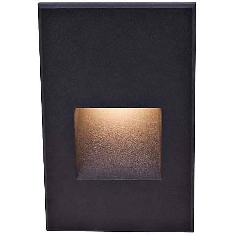 "WAC LEDme® 5"" High Black Step Light"