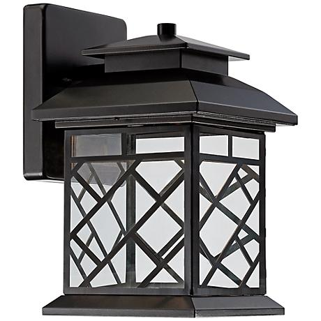"""Woodmere 11"""" High LED Bronze Outdoor Wall Light"""