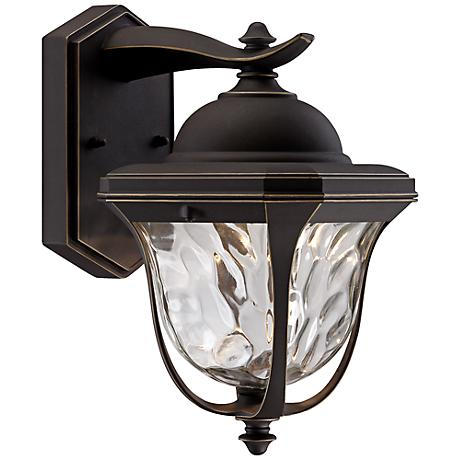 """Marquette 10 1/2"""" High LED Bronze Outdoor Wall Light"""
