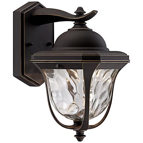 """Marquette 13 1/2"""" High LED Bronze Outdoor Wall Light"""