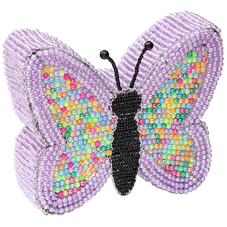 Beadworx Butterfly Hand-Crafted Beaded Night Light