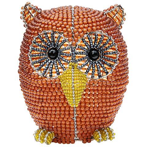 Beadworx Owl Hand-Crafted Beaded Night Light