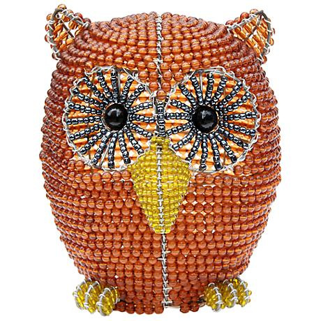 Beadworx Owl Hand-Crafted Beaded Night Light