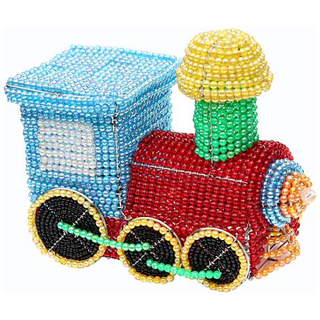 Beadworx Train Hand-Crafted Beaded Night Light