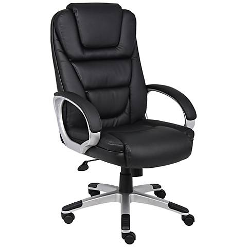 "Boss ""NTR"" Black Leatherplus Executive Office Chair"