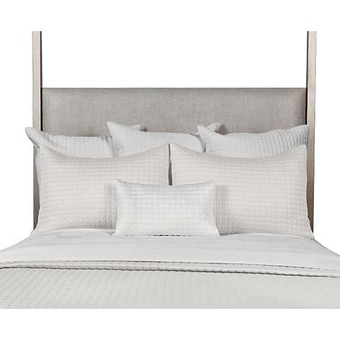 Bamboo Quilted Ivory Coverlet