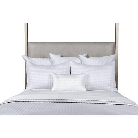 Bamboo Quilted White Coverlet