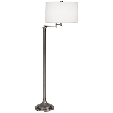Robert Abbey Sofia Antique Nickel Swing Arm Floor Lamp