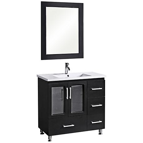 "Stanton Espresso 36"" Wide Single Sink Vanity Set"