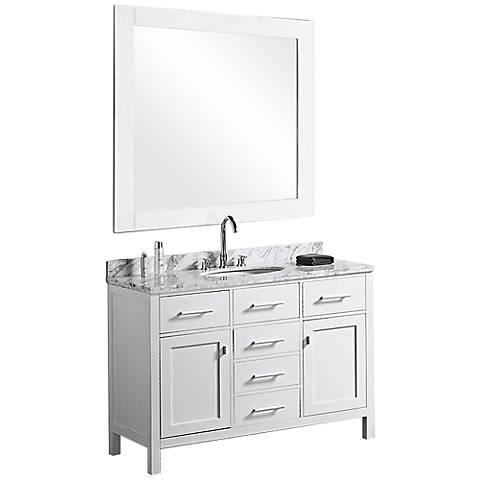 "London White 48"" Single Sink Vanity Set"