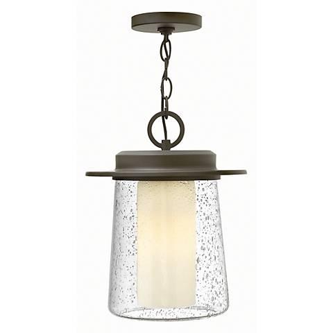 """Hinkley Riley 14"""" High Bronze Outdoor Hanging Light"""