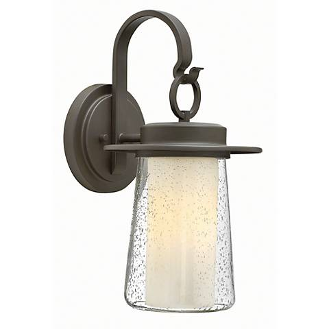 "Hinkley Riley 17 1/2"" High Bronze Outdoor Wall Light"