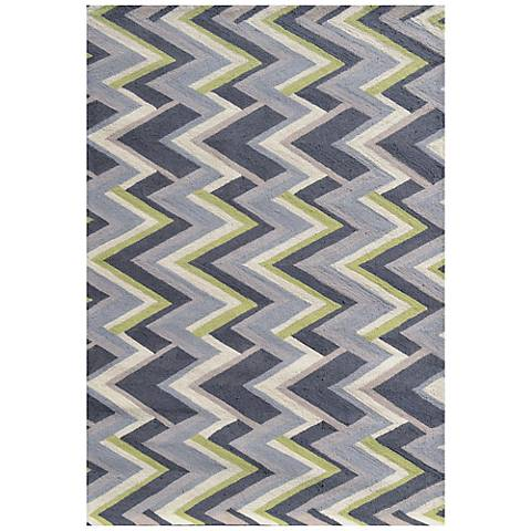 Resort 25493 Grey Vector Indoor Outdoor Rug