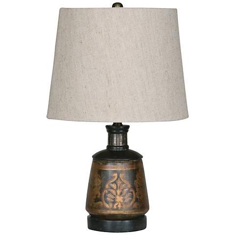 "Uttermost 17"" high Mela Terracotta Accent Table Lamp"