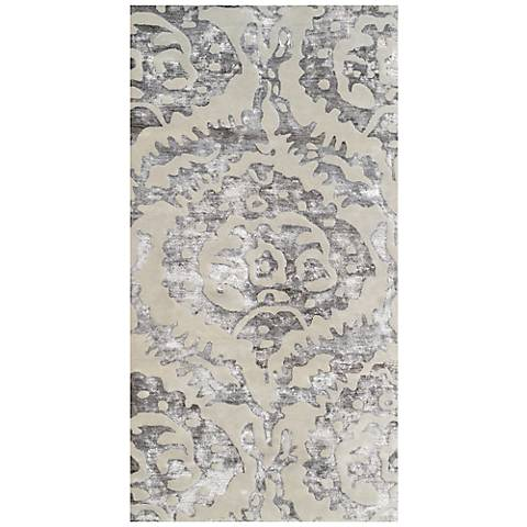 Maison Sullivan Brown 44442 Cream Wool Area Rug
