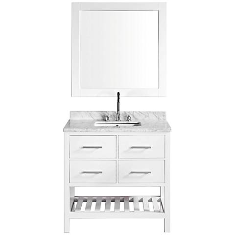 "London White 36"" Single Sink Vanity Set"