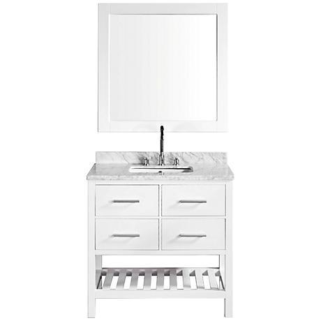 "London White 36"" Single Sink Vanity Set"