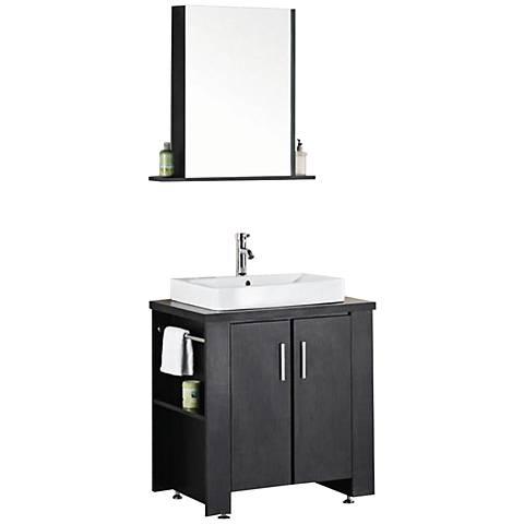 "Washington 36"" Single Sink Vanity Set in Espresso"