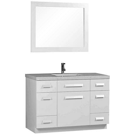 "Moscony White 48"" Single Sink Vanity Set"