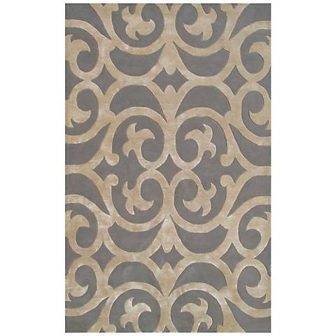 Maison Bellagio 44471 Silver and Bronze Wool Rug